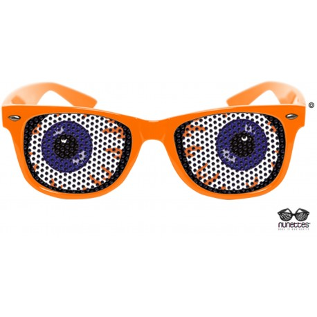 Lunettes Orange Adulte Mishka - Déguisement humour adulte - Costume Humour Adulte The Duck