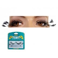 "Maquillage Faux Cils Noir Effet ""Plumes"" - Costume Maquillage - Déguisement maquillage The Duck"