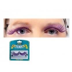 """Déguisement Maquillage Faux Cils Violet et Noir effet """"Plumes"""" - Costume Maquillage The Duck"""