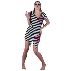 Déguisement Zombie Prisonnière Femme - Costume Zombie Femme Halloween The Duck