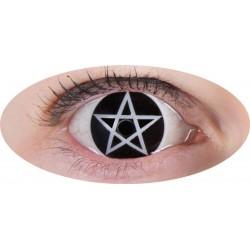 Lentilles de contact Fantaisie Croix Satanique Halloween