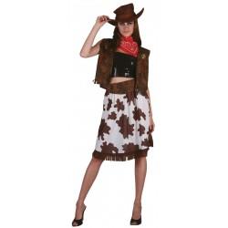 Costume de Cow Girl Femme Western - Déguisement cowgirl femme Western The Duck