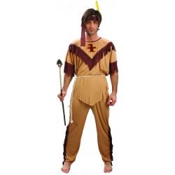 Déguisement d'Indien Marron & Beige Homme - Costume Western homme The Duck