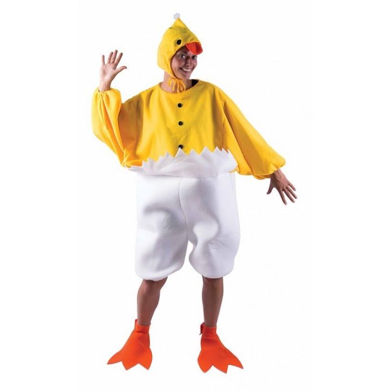 d guisement de poussin jaune blanc adulte costumes animaux sur the. Black Bedroom Furniture Sets. Home Design Ideas
