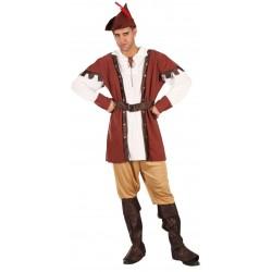 Déguisement Robin Bois Marron Homme , Costume Moyen Age The Duck