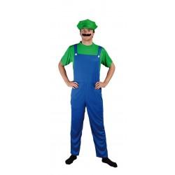 Déguisement Plombier Vert Adulte - Costume Jeux Video The Duck