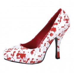 Chaussures Blanches Ensanglantées Halloween Femme