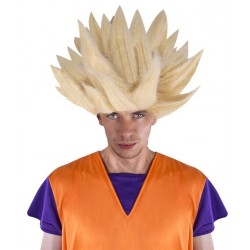 Déguisement Perruque Guerrier Dragon Blond SANGOKU - Déguisement San Goku Homme The Duck