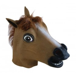 Masque Tête de Cheval Marron Adulte