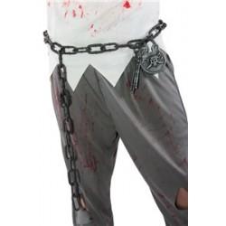 Ceinture Chaîne Prisonnier Argent Déguisement Adulte - Costume Accessoire The Duck