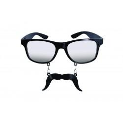 Lunettes à Moustache Noir Adulte