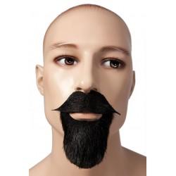 Barbe et Moustache de Mousquetaire Noires