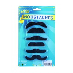 Lot de 6 moustaches adulte