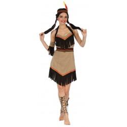 Déguisement d'Indienne Femme Marron - Costume Indienne femme The Duck