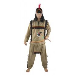 Déguisement D'indien Marron Homme - Costume Western Homme The Duck