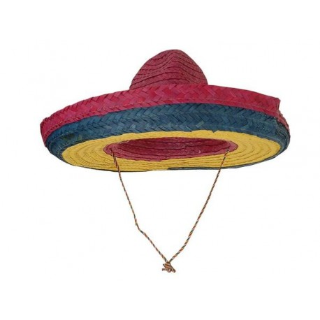 Sombrero Mexicain Adulte Multicolore - Déguisement mexicain Adulte The Duck