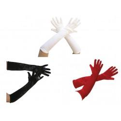 Complétez votre tenue de soirée très facilement grâce à ces gants pour femme en velours mesurant 53cm de long