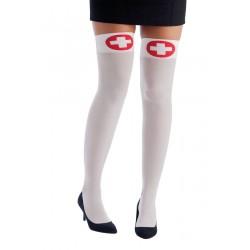 Bas Blanc à Croix Rouge d'Infirmière Femme