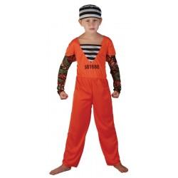 Ce déguisement de prisonnier américainpour enfant comprend une combinaison et un calot.