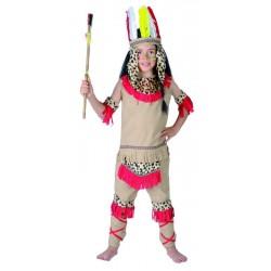 Déguisement Indien beige rouge Enfant - Costume indien enfant - Déguisement indien enfant The Duck