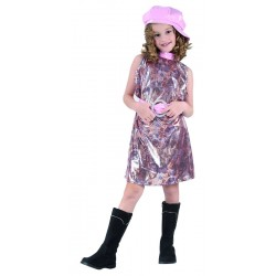 Déguisement de Star Fille rose - Costume star disco fille The Duck