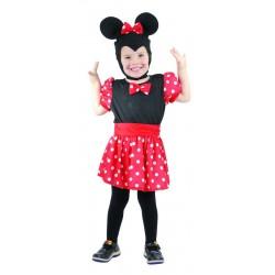 Déguisement de Souris rouge & noire Fille - costume mickey fille animaux The Duck