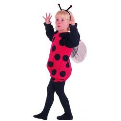 Déguisement de Coccinelle rouge & noire Enfant