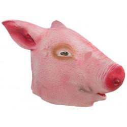 Masque de Cochon rose Adulte - costume animaux - déguisement animaux The Duck