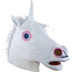Masque de Licorne blanche Adulte - costume licorne - déguisement licorne The Duck