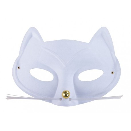 Masque Loup Chat Blanc Adulte - Costume animaux - Déguisement animaux The Duck