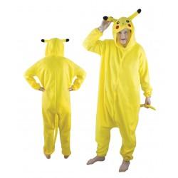 Kigurumi Pikachu Adulte jaune - Déguisement pikachu jeux vidéo pokémon The Duck