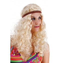 Perruque de Hippie Blonde Femme