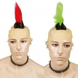 Perruque de Punk crête Adulte - Déguisement punk Adulte The Duck