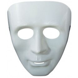 Masque Blanc Adulte en plastique
