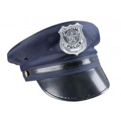 Casquette de Policier Adulte bleu marine - Déguisement policier Adulte carnaval The Duck