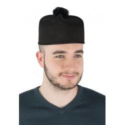 Chapeau Barette de Curé Adulte noir - Déguisement prêtre adulte religion The Duck