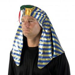 Chapeau de Pharaon Adulte Bleu & Or - Déguisement pharaon Adulte Egypte The Duck