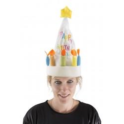 Chapeau gâteau d'Anniversaire Adulte musical & dansant
