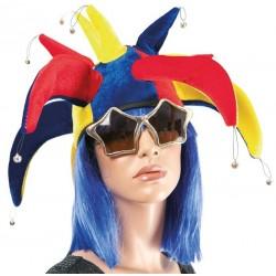 Chapeau Fou du Roi Adulte multicolore avec grelots