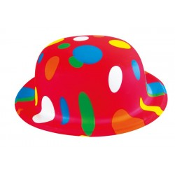 Chapeau Melon de Clown Adulte multicolore