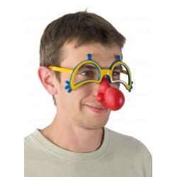 Lunettes de Clown Adulte avec nez rouge
