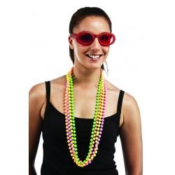 Colliers de Perles Multicolores Fluo - Déguisement fluo adulte Carnaval The Duck