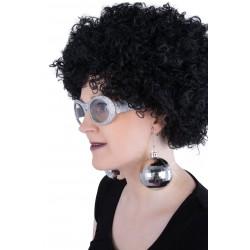Boucles d'Oreilles Boules Disco Or Adulte - Déguisement disco femme année 70 The Duck