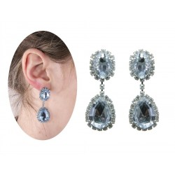 Boucles d'Oreilles Faux Diamants Charleston Adulte