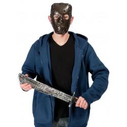 Masque de Tueur avec machette adulte - Déguisement tueur psychopathe adulte The Duck