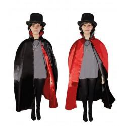 Cape Réversible Noire et Rouge Enfant 90cm - Déguisement vampire enfant halloween the duck