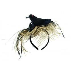 Serre-tête Corbeau Noir Adulte