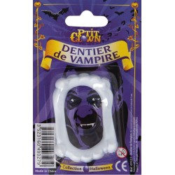 Dentier de Vampire Blanc Eco Adulte - Déguisement vampire adulte halloween the duck