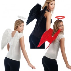 Ailes d'Ange en Plumes - Déguisement ange adulte religion the duck