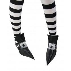 Sur-chaussures de Sorcière Noire Femme - Déguisement sorcière femme halloween the duck